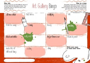 Art Gallery Bingo