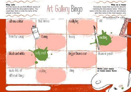 Art Gallery Bingo