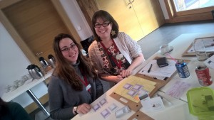 Staff from Learning Team at National Trust Scotland using Evaluation Trumps to inspire new ideas on how to do evalution